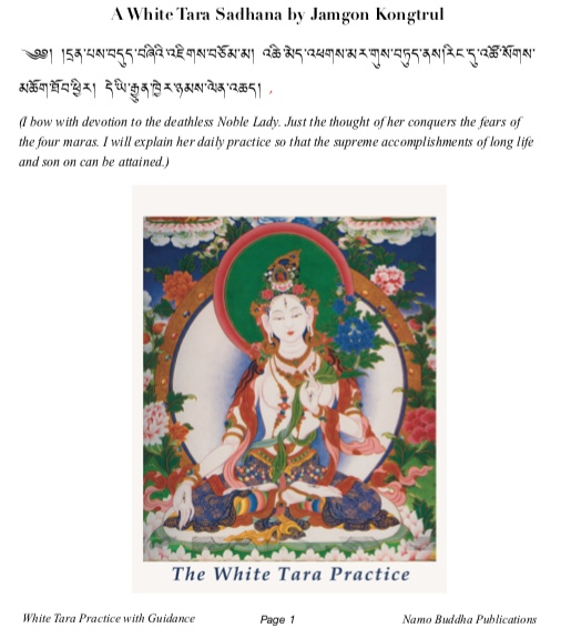 White Tara Practice with Guidance (PDF)