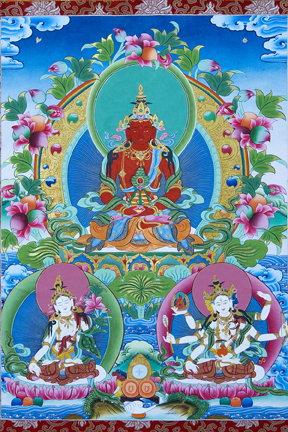 Amitayus w White Tara, Namgyalma (Downloadable Photo)