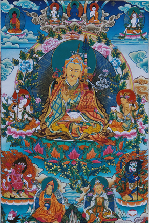 Guru Rinpoche with 8 Manifestions (Downloadable Photo)