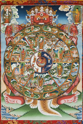 Wheel of Samsara with Buddhas (Downloadable Photo)