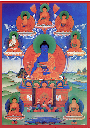 Medicine Buddha Photo with 7 brothers (Download photo)