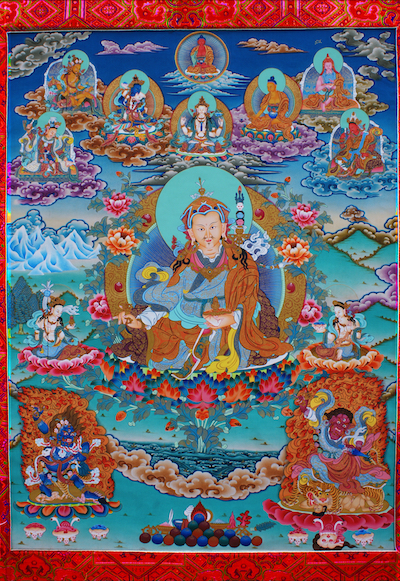 Guru Rinpoche with Dispelling Mudra (Photo)