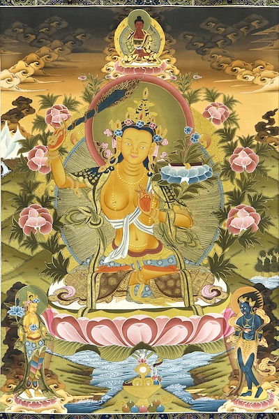 A Golden Manjushri, Deity of Wisdom (Photo)