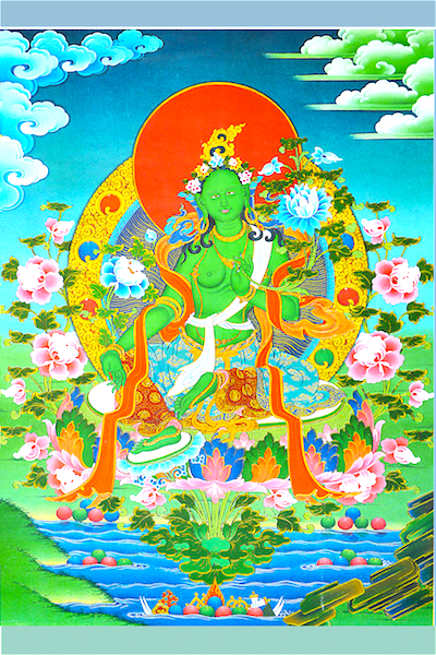 Green Tara on a Lake (Photo to purchase)